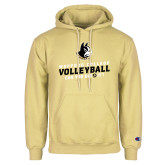 Champion Vegas Gold Fleece Hoodie-Wofford College Volleyball Can You Dig It