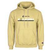 Champion Vegas Gold Fleece Hoodie-Wofford Terriers Volleyball w/ Volleyball