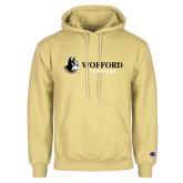 Champion Vegas Gold Fleece Hoodie-Wofford Terriers w/ Terrier Flat