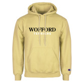 Champion Vegas Gold Fleece Hoodie-Wofford Terriers Word Mark