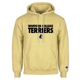 Champion Vegas Gold Fleece Hoodie-Wofford College Terriers Stacked