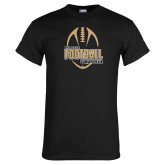 Black T Shirt-Wofford College Football w/ Football