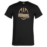 Black T Shirt-Wofford College Football w/ Football