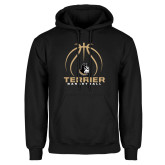 Black Fleece Hoodie-Terrier Basketball w/ Contour Lines