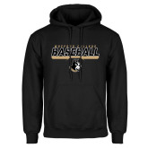 Black Fleece Hoodie-Wofford College Baseball Stencil w/Bar