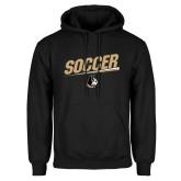 Black Fleece Hoodie-Wofford Soccer Slanted