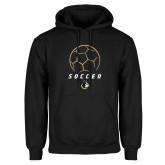 Black Fleece Hoodie-Wofford Soccer Stacked