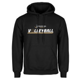 Black Fleece Hoodie-Wofford Terriers Volleyball w/ Volleyball