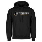 Black Fleece Hoodie-Wofford Terriers w/ Terrier Flat