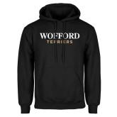 Black Fleece Hoodie-Wofford Terriers Word Mark