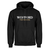 Black Fleece Hoodie-Wofford Terriers Word Mark