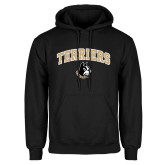 Black Fleece Hoodie-Terriers Arched w/ Terrier