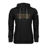 Adidas Climawarm Black Team Issue Hoodie-Wofford College Stacked