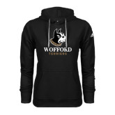 Adidas Climawarm Black Team Issue Hoodie-Wofford Terriers w/ Terrier