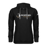 Adidas Climawarm Black Team Issue Hoodie-Wofford Terriers w/ Terrier Flat