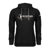 Adidas Climawarm Black Team Issue Hoodie-Wofford Terriers w/ Terrier Flat