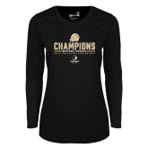 Ladies Syntrel Performance Black Longsleeve Shirt-2017 Football Champions