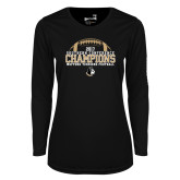 Ladies Syntrel Performance Black Longsleeve Shirt-2017 Football Champions - Football