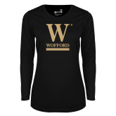 Ladies Syntrel Performance Black Longsleeve Shirt-W Wofford