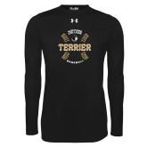 Under Armour Black Long Sleeve Tech Tee-Wofford College Terrier Baseball w/Seams