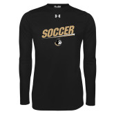 Under Armour Black Long Sleeve Tech Tee-Wofford Soccer Slanted