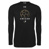 Under Armour Black Long Sleeve Tech Tee-Wofford Soccer Stacked