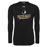 Under Armour Black Long Sleeve Tech Tee-Wofford College Volleyball Can You Dig It