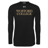 Under Armour Black Long Sleeve Tech Tee-Wofford College Stacked