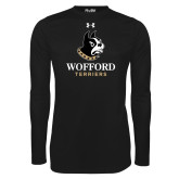 Under Armour Black Long Sleeve Tech Tee-Wofford Terriers w/ Terrier