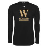 Under Armour Black Long Sleeve Tech Tee-W Wofford