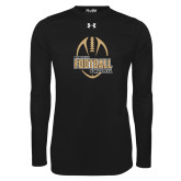 Under Armour Black Long Sleeve Tech Tee-Wofford College Football w/ Football
