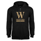 Black Fleece Full Zip Hoodie-W Wofford