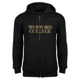 Black Fleece Full Zip Hoodie-Wofford College Stacked