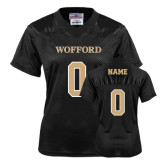 Ladies Black Replica Football Jersey-Personalized