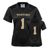 Ladies Black Replica Football Jersey-#1