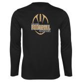 Performance Black Longsleeve Shirt-Wofford College Football w/ Football