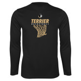 Syntrel Performance Black Longsleeve Shirt-Terrier Basketball w/ Net