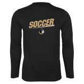 Syntrel Performance Black Longsleeve Shirt-Wofford Soccer Slanted