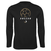 Performance Black Longsleeve Shirt-Wofford Soccer Stacked