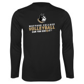 Performance Black Longsleeve Shirt-Wofford College Volleyball Can You Dig It