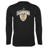 Performance Black Longsleeve Shirt-2017 Football Champions Vertical Football