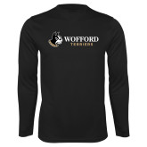 Syntrel Performance Black Longsleeve Shirt-Wofford Terriers w/ Terrier Flat