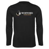 Performance Black Longsleeve Shirt-Wofford Terriers w/ Terrier Flat