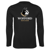 Performance Black Longsleeve Shirt-Soccer