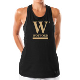 Ladies Under Armour Black Pinhole Tank-W Wofford