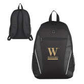 Atlas Black Computer Backpack-W Wofford