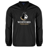 V Neck Black Raglan Windshirt-Wofford Terriers w/ Terrier