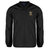 V Neck Black Raglan Windshirt-W Wofford