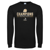Black Long Sleeve T Shirt-2017 Football Champions