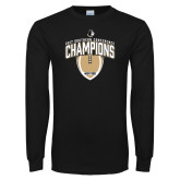 Black Long Sleeve T Shirt-2017 Football Champions Vertical Football